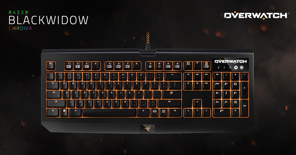 Overwatch Mechanical Gaming Keyboard Razer Blackwidow Chroma
